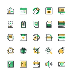 User interface and web colored icons 1 vector