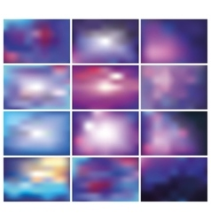 Abstract blurred backgroundsbluelilac vector