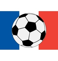 Official flag of france and soccer ball vector