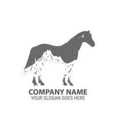 Night horse logo icon vector