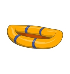 Inflatable boat icon cartoon style vector