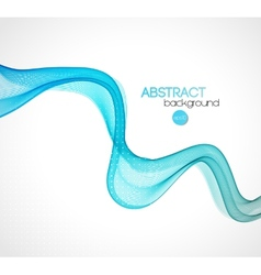 Abstract blue transparent wave background vector image
