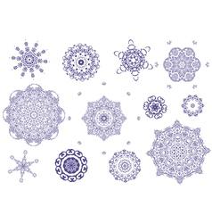 Arabesque tracery vector