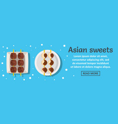 asian sweets banner horizontal concept vector image