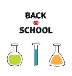 Back to school science lab glass set laboratory vector