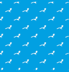 bird pattern seamless blue vector image vector image