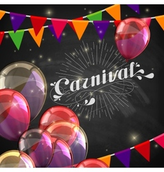 Chalk word carnival on the blackboard texture vector