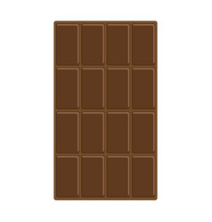 chocolate bar icon tasty sweet food milk dark vector image