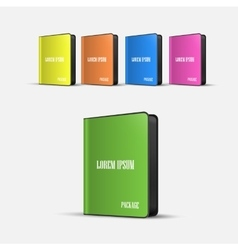 Colored software boxes package vector