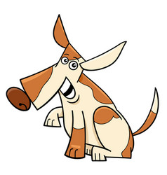 Funny spotted dog cartoon comic character vector