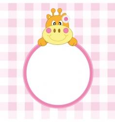 giraffe frame vector image