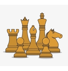 human resources chess pieces design isolated vector image vector image