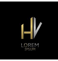 Hv letters logo vector