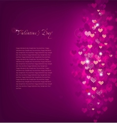 Pink Background Love vector image vector image