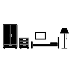 room with furniture vector image