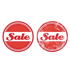 Sale retro grunge badges vector image vector image
