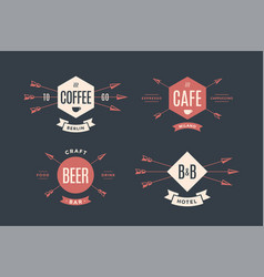 set of emblem label and design elements vector image vector image