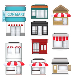 shop set vector image vector image