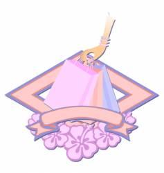 shopping bags logo vector image vector image