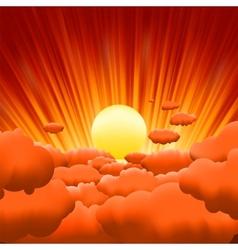 sunburst background vector image vector image