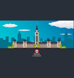 travel to canada america flat vector image