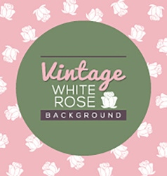 Vintage white roses background vector
