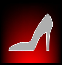 Woman shoe sign postage stamp or old photo style vector