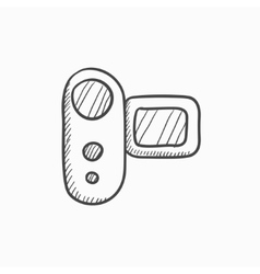 Digital video camera sketch icon vector