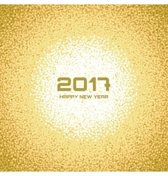 Gold white new year christmas snowflake background vector
