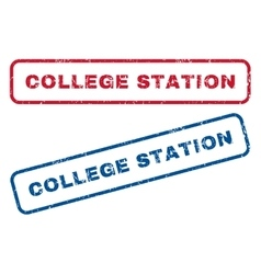 College station rubber stamps vector