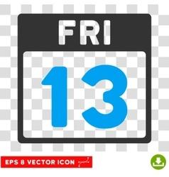 13 friday calendar page eps icon vector