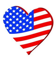 Love for america vector
