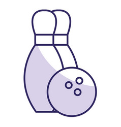Bowling pines isolated icon vector