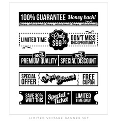 Vintage Typographic Business Banner Design vector image