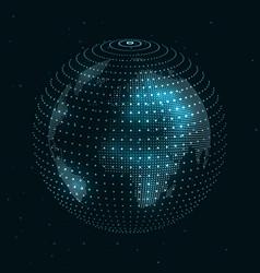 Technology image of globe vector