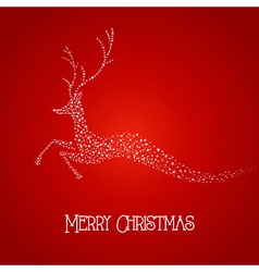 Merry christmas deer star shape vector