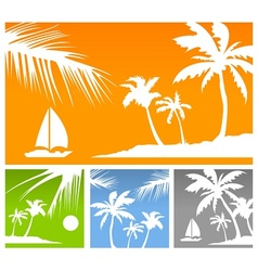 Palms color background vector image