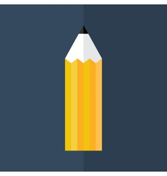 Orange pencil icon over blue vector image
