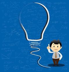 Concept light bulb symbol of renewable vector image