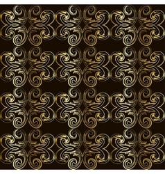 Vintage seamless pattern with golden curls in vector