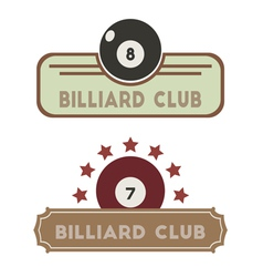 Billiard Club vector image