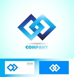 Loop seamless square rhombus logo vector