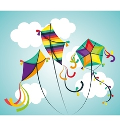 Kite and childhood design vector