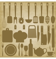 Kitchen items for cooking vector