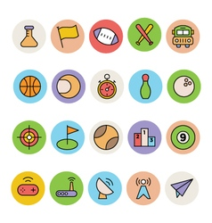 Basic colored icons 10 vector