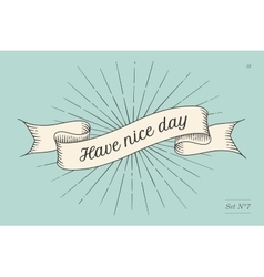 Greeting card with inscription have nice day vector