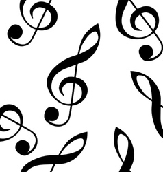 Abstract music seamless pattern background with tr vector image vector image