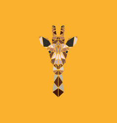 abstract polygonal triangle giraffe vector image vector image