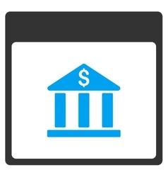 Bank building calendar page toolbar icon vector