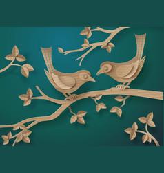 bird in love vector image